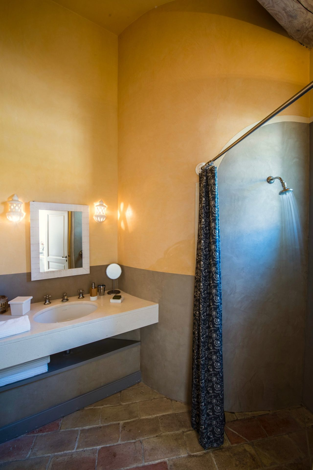 En suite shower room at La Suite by la Baye des Anges